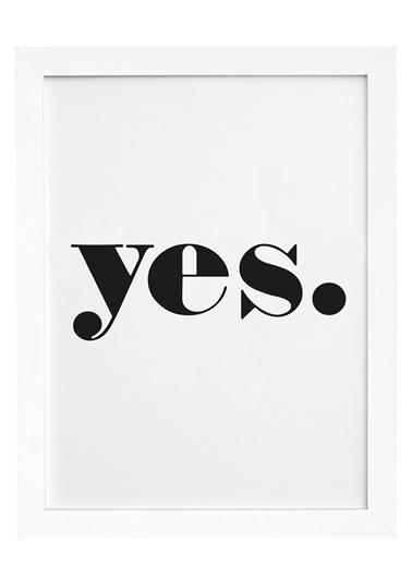 Nordbagen Yes Poster Beyaz